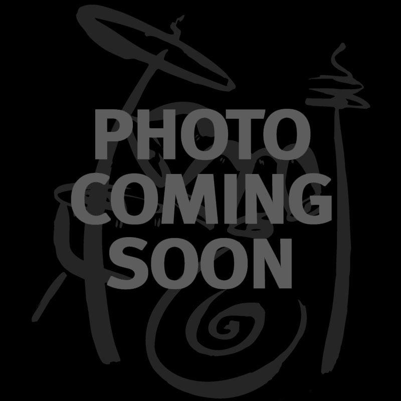 """Gretsch 18"""" Ebony Logo Drumhead - Off-Center Gretsch Logo with Remo Logo"""